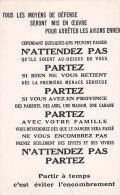 Am - CPM Tract Diffusé Avant La Gueere 1939-40 (Musée De L'Affiche Et Du Tract) - Histoire