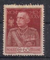 REGNO D'ITALIA   1925 / 26     GIUBILEO DEL RE   SASS. 186 MLH VF - 1900-44 Vittorio Emanuele III