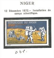 1973 - Niger Y&T PA203 Apollo 17 Oblitéré - Space