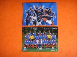 22 ) Equipe De France Football : 2 Cpm  :fff , Addidas - Soccer