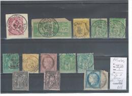 France Lot D'Oblitérés De Syrie - 14 Timbres - Beyrouth- Lattaquié-Tripoli ... - 1877-1920: Période Semi Moderne