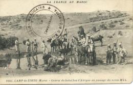 Camp De ZIREG (Maroc) - Convoi Du Bataillon D'Afrique Au Passage Du Ravin MUL - Marokko