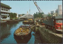 Singapur - Singapore - Harbour - Barges - Ships - Lorry - Crane - Singapore