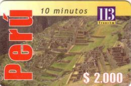 PEROU PERU RUINES INCA INCAS MACHUPICCHU 2000$ UT