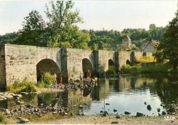 MOUTIER D'AHUN: Le Pont Romain Et L'église - Moutier D'Ahun
