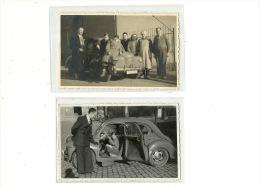 Renault 4 Cv R ( 2 Photos Cartes ) - Passenger Cars
