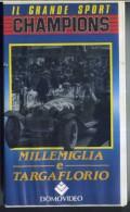 X MILLEMIGLIA & TARGA FLORIO IL GRANDE SPORT DOMOVIDEO 50' LOGOS TV BIANCO/NERO - Sports