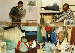 Ciskei - 1985 Small Industries Maximum Cards - Full Set Of 4 - Gewerkschaften