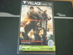 Edge Of Tomorrow Live Die Repeat Tom Cruise - Cinema Movie Program Programme From Greece - Programmes