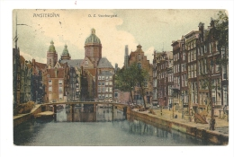 Cp, Pays-Bas, Amsterdam, O.Z. Voorburwal, Voyagée 1904 - Amsterdam