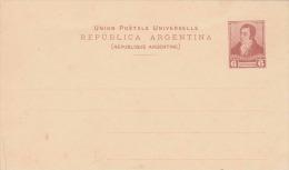 ARGENTINA 1895? - 6 Centavos Ganzsache Hellbraun ** Auf Pk - Argentinien