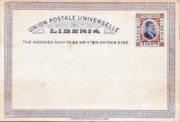 LIBERIA 1898? - 3 Cents Ganzsache Auf Pk ** - Liberia