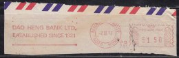 Hong Kong Dao Heng Bank  Meter Cancel 1973. - Otros