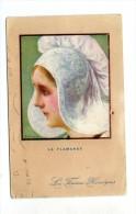 Cp , Folklore , Coiffe , LA FLAMANDE , Les Femmes Héroiques , Voyagée 1916 , Ed : Pais Color - People