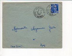 1952 Cachet à Date Manuel Recette Distribution (sans étoile) La Pommeraie Sur Gandon Seul - Handstempel