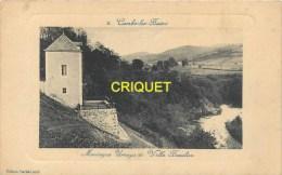 Cpa 64 Cambo Les Bains, Montagne Ursuya Et Villa Beaulieu, Carte Cadre Gauffré Pas Très Courante, écrite 1915 - Cambo-les-Bains