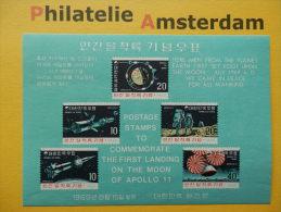 South Korea 1969, APOLLO 11 / SPACE RUIMTEVAART ESPACE: Mi 664-68, Bl. 285, ** - Ruimtevaart