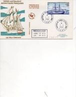 TAAF...AMSTERDAM   2001 LES VIEUX GREEMENTS  LE CARMIN PREMIER JOUR - Bases Antarctiques