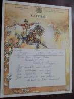 Brugge Denys - Deboo ( Huwelijkstelegram / Zie Foto´s Voor Detail ) ! - Stamped Stationery