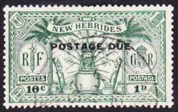 Nouvelles-Hébrides Obl. N° Taxe  6 - Idole Indigène 10c -1p Vert - Légende Française