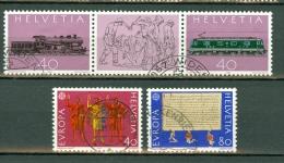 Helvetia 1982 Yv 1148 / 49, 1150 / 51 - Usados