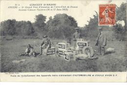 Cpa - Circuit D'anjou -1ier Grand Prix  (en L´état ) - Angers