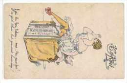 CPA SANTINI 1ER AVRIL J'AI DU BON TABAC MAIS T'EN AURAS PAS NU DESHABILLE - Illustratori & Fotografie