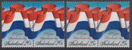 NEDERLAND NVPH NR. 1010-1011 400 JAAR NED. VLAG PAAR MNH / POSTFRIS / NEUF SANS CHARNIERE 1972 - 1949-1980 (Juliana)