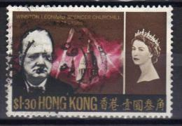 W888 - HONG KONG 1966 , Elisabetta  Yvert N. 218  Usato. Churchill - Usati