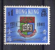W891 - HONG KONG 1961 , Elisabetta  Yvert N. 190  Usato. - Usati