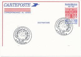 Entiers;Carte Postale  2,20 INSTITUT PASTEUR. Repiquage 80eme Anniversaire Société Philat De Dieppe - Cartoline Postali Ristampe (ante 1955)