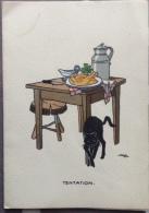 Menus Avec Dessins Humoristiques Signé Mp - 4 Pages - 10x15 - Autres Collections