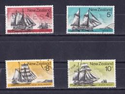New Zealand 1975 Sailing Ships 4 Values Used - New Zealand