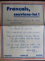 AFFICHE PROPAGANDE VICHY #1 ETAT FRANCAIS DOCTRINE MARECHAL PETAIN
