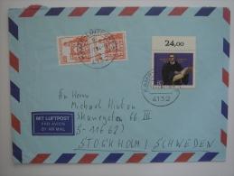 West Germany 1984 Commercial Cover Kamp-Lintfort To Sweden - Briefe U. Dokumente