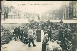 76 DIEPPE / Grande Rue Et Place Duquesne / Carte  Glacée - Dieppe
