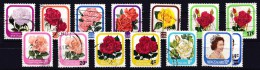 New Zealand 1975 Garden Roses To 10c Queen + 1979 Surcharges Used - - New Zealand