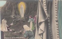 65 - LOURDES - Miracle De La Source  - Carte Pulze Ancienne - Lourdes