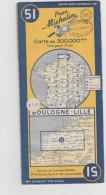 Carte Michelin N°51 BOULOGNE-LILLE - Roadmaps