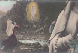 65 - LOURDES - L'Apparition  - Carte Pulze Ancienne - Lourdes