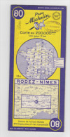 Carte Michelin N°80 RODEZ-NIMES - Roadmaps