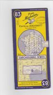 Carte Michelin N°83 CARCASSONNE-NIMES - Cartes Routières