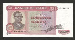 [NC] ZAIRE - BANQUE Du ZAIRE - 50 MAKUTA (1979) - Zaire