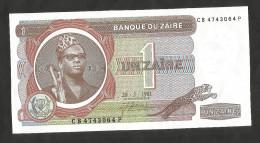 [NC] ZAIRE - BANQUE Du ZAIRE - 1 ZAIRE (1981) - Zaire