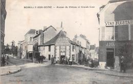 """¤¤  -  ROMILLY-sur-SEINE  -  Avenue Du Chateau Et Grande Cour  -  Café Parisien - Restaurant """"J. Marcilly"""" - Romilly-sur-Seine"""