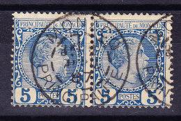 Monaco - 1885 - Mi# 3 PAAR Gestempelt - Non Classés