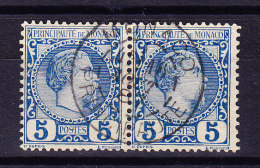 Monaco - 1885 - Mi# 3 PAAR Zentrierter Stempel - Non Classés