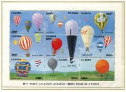 Airships Uganda 1992 KB 1039/47 MNH ** Balloons - Airships