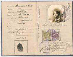 ARGENTINA - 1927 CONSULAR  PASSPORT - PASSEPORT - PASAPORTE - Large Size - Issued In MILANO - ITALIA - Documents Historiques