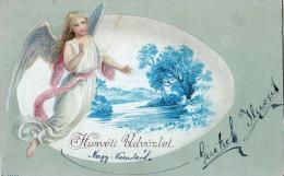 AK KÜNSTLERKARTEN  ,ENGEL Schöne Junge Mädchen Geprägt ALTE  POSTKARTEN 1903 - Anges